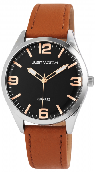 Just Watch Herren-Uhr Echt Leder Armband JW268 Analog Quarz JW20135