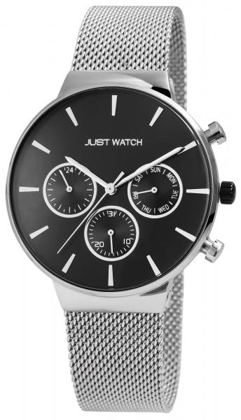 Just Watch Jaxon Herren-Uhr Edelstahl Meshband Multifunktion Analog Quarz JW20088
