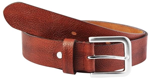 Leonardo Verrelli Herren - Gürtel aus Leder Hellbraun kürzbar 100 cm 3100024