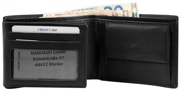 Excellanc Herren-Geldbörse Echt Leder 12 x 9 cm Querformat RFID 3000370