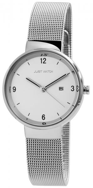 Just Watch Damen-Uhr Meshband Edelstahl Leuchtzeiger Datum Analog Quarz JW10082