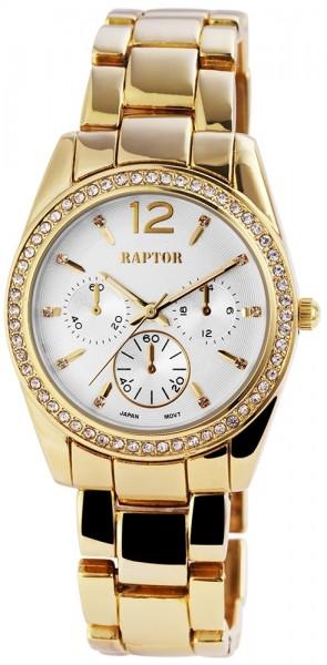 Raptor Damen - Uhr Metall Armbanduhr Strasssteine Analog Quarz RA10062