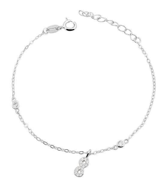 Giulia Luna-Armband 925er Silber Infinity Unendlichkeit 14+3 cm GL5240019