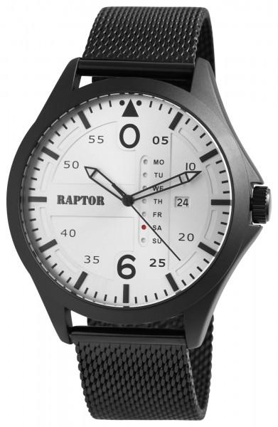 Raptor Herrenuhr mit Edelstahlband Anloaganzeige Quarz RA20265