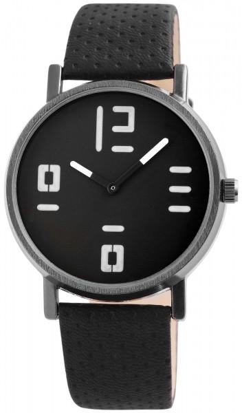 Excellanc Damen-Uhr Lederimitat Dornschließe Analog Quarz 1900141
