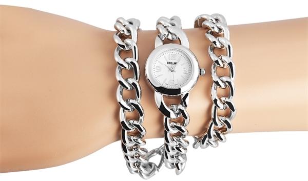 Excellanc Analog Damenuhr, Metall, Ø 25 mm, Silber Weiß - 150422500002