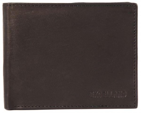 Excellanc Herren-Geldbörse Echt Leder Querformat 11,5 x 9 x 1,5 cm 3000228