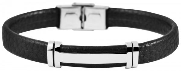 Akzent Unisex - Armband aus Echtleder mit Edelstahl Länge 21,5 cm 5040260