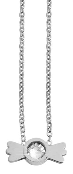 Akzent Damen - Halskette Wings Anhänger Edelstahl Ankerkette 43+5cm 5010273