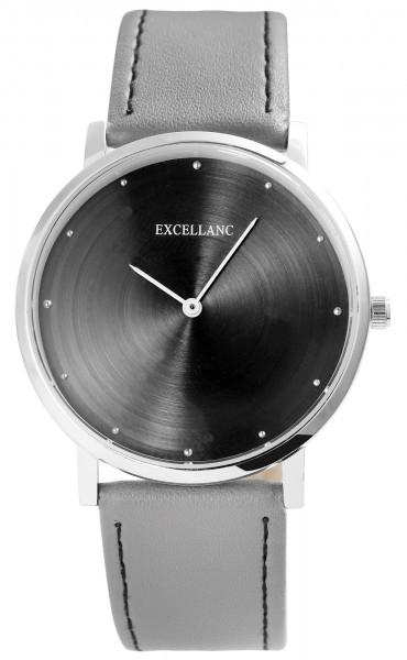 Excellanc Damen-Uhr Lederimitat Dornschließe Analog Quarz 1900256