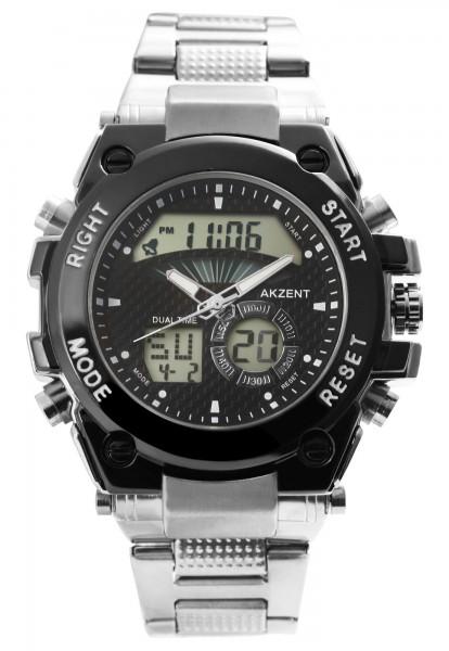 Akzent Herren - Uhr Metall Armbanduhr Multifunktion Analog-Digital Quarz 2420023