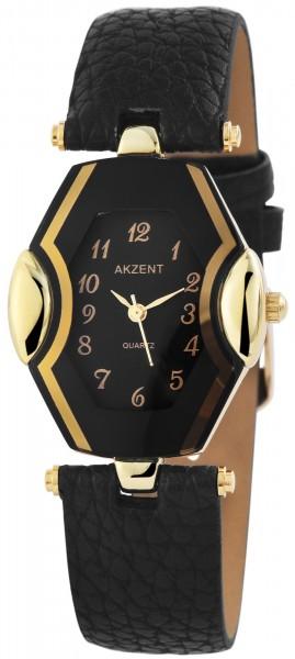 Akzent Damen - Uhr Lederimitation Armbanduhr Eckig Analog Quarz 1900103