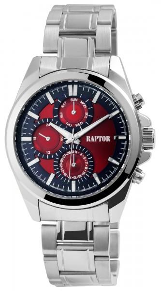 Raptor Herren-Uhr Armband Edelstahl Leuchtzeiger Elegant Analog Quarz RA20219