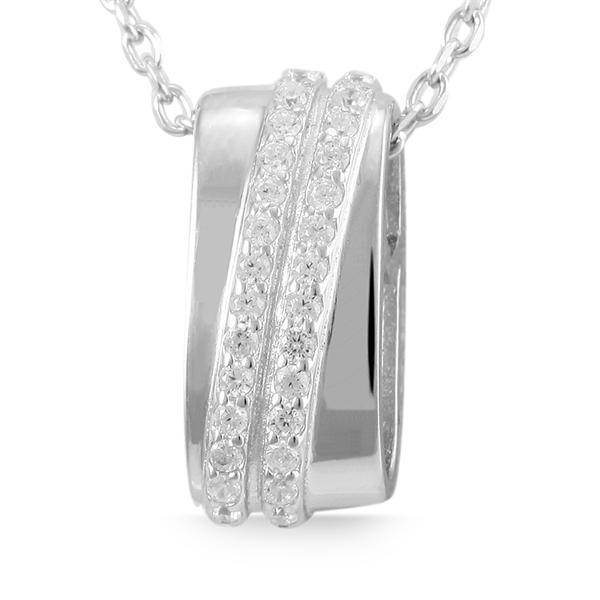 Giulia Luna Damen-Halskette Anhänger 925er Silber Strass-Stein GL5210005