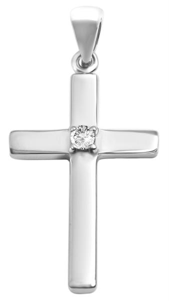 Giulia Luna-Halskette Anhänger Kreuz Glaube Schutz 925er Silber Strass GL5210056