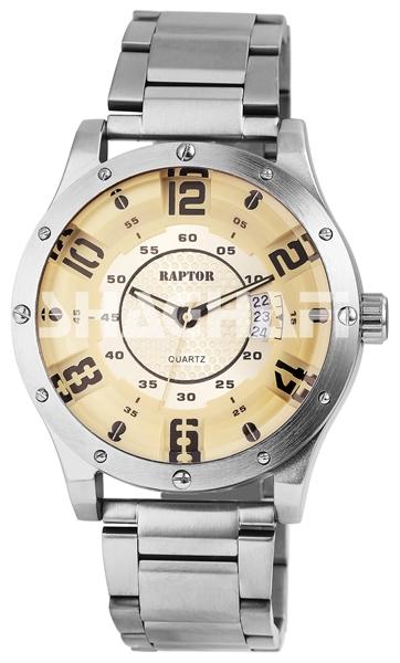 Raptor Herren Armbanduhr mit Edelstahlband und Datumsanzeige - 2859XX0039