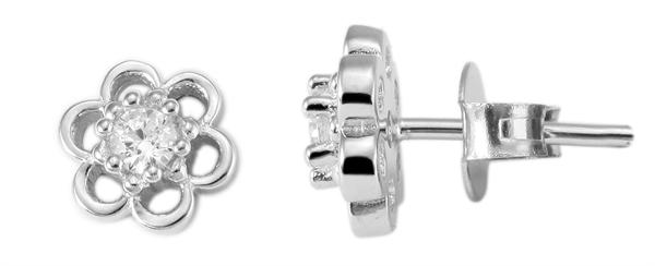 Giulia Luna Damen –Ohrstecker 925er Silber rhodiniert Ohrringe Strass GL5200014