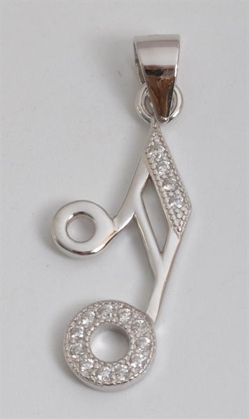Giulia Luna Damen-Halskette Anhänger Note Musik 925er Silber GL5210048
