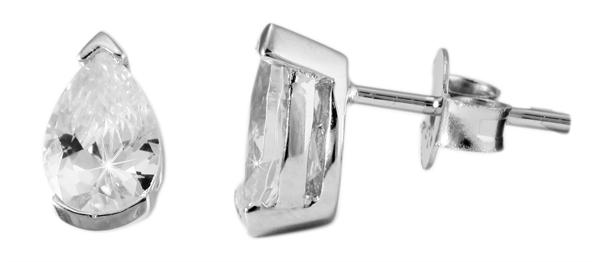 Giulia Luna Damen –Ohrstecker 925er Silber rhodiniert Ohrringe Strass GL5200012