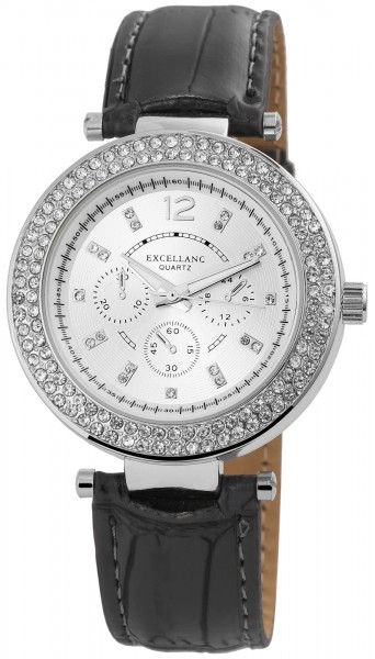 Excellanc Damenuhr mit Lederimitationsarmband - 1900067