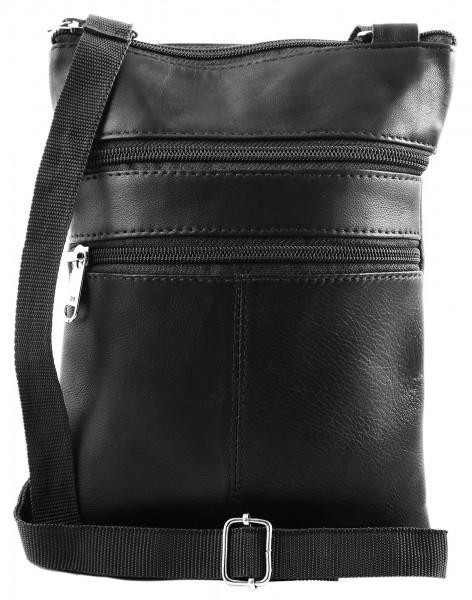 Steinmeister Unisex - Schulter Tasche Echt Leder Umhängetasche 22 x 17 x 1,5 cm 3900008