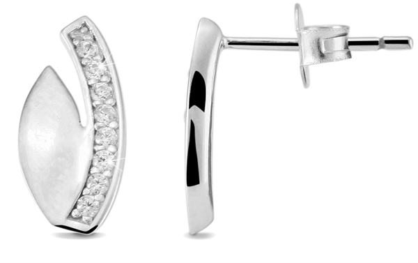Giulia Luna Damen – Ohrstecker 925er Silber rhodiniert Ohrringe Strass GL5200051