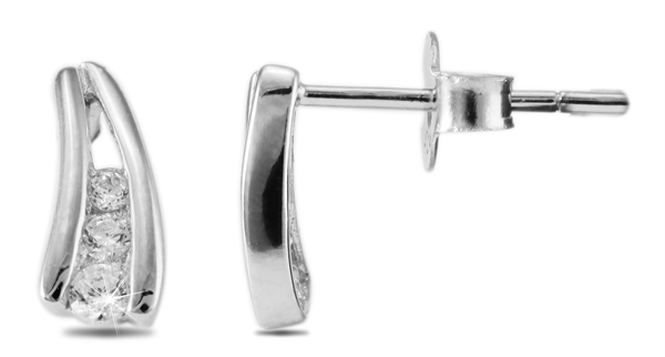 Giulia Luna Damen – Ohrstecker 925er Silber rhodiniert Ohrringe Strass GL5200046