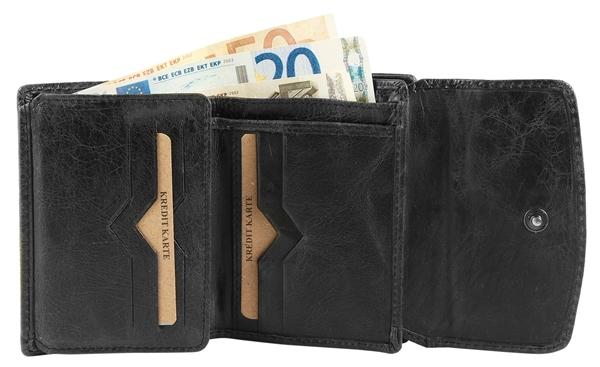 Raptor Damen Geldbörse aus Echtleder. Format 12 x 9 cm.