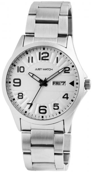 Just Watch Herren-Uhr Edelstahl Armband Leuchtzeiger Datum Analog Quarz JW20114