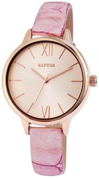 Raptor Damen-Uhr Echtleder Armband Dornschließe Analog Quarz RA10011