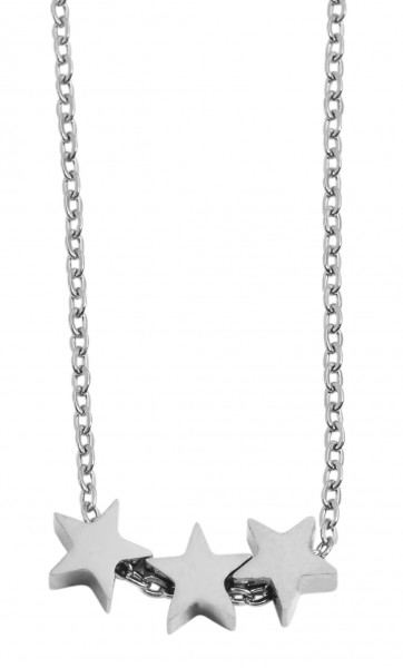 Akzent Damen - Halskette Stern Anhänger Edelstahl Ankerkette 43+5cm 5010255