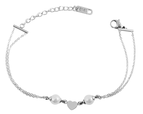 Akzent Damen - Armband Edelstahl Herz Motiv Länge 16 + 4 cm Stärke 2 mm 5030441