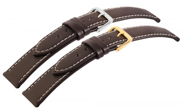 7daysin-Ersatzarmband Echt Leder Ziernähte Gold- und silberfarbig 10 Stück 8000256