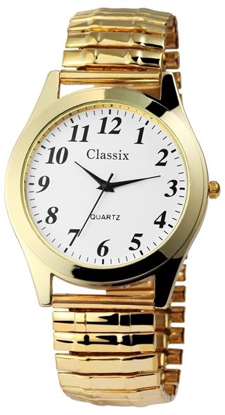 Classix Herren – Uhr Zugarmband Metall Armbanduhr Analog Quarz 2700004