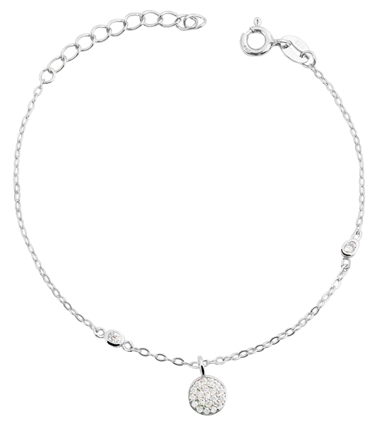 Giulia Luna - Armband 925er Silber Rund Kreis Strass-Stein 17+3 cm GL5240020