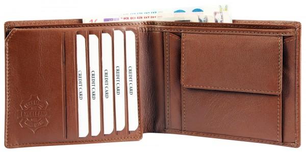 Excellanc Herren-Geldbörse Echt Leder 12 x10 cm Querformat RFID 300376