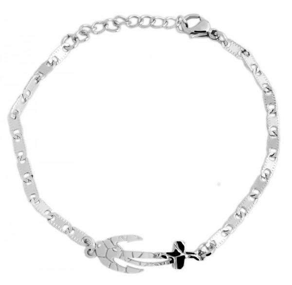 Akzent Edelstahl Armband in , Länge: 15 cm