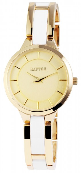 Raptor Damen - Uhr schmale Metall Armbanduhr Hakenverschluss Analog Quarz RA10057