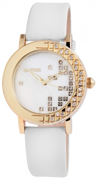 Raptor Damen-Uhr Echtleder Armband Analog Quarz RA10086-004