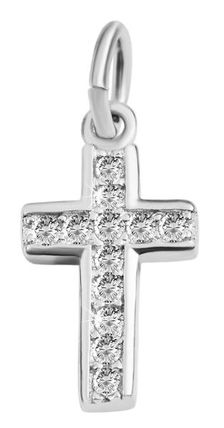 Giulia Luna-Halskette Anhänger Kreuz Glaube Schutz 925er Silber Strass GL5210092