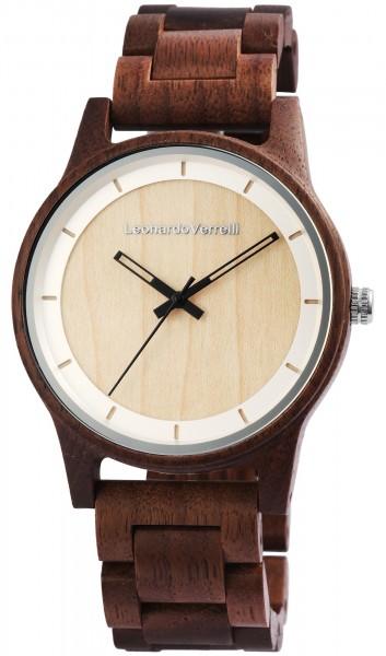Leonardo Verrelli Holzuhren mit Holzband