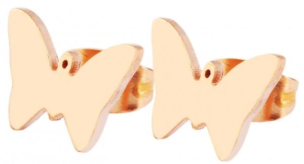 Akzent Edelstahl Schmetterling Ohrstecker - 5050205