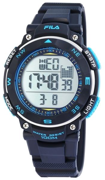 Fila Herren - Uhr Silikonarmband Dornschließe Digital Quarz 38-824-002