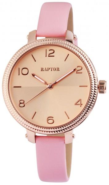 Raptor Damen-Uhr Echtleder Armband Dornschließe Analog Quarz RA10008