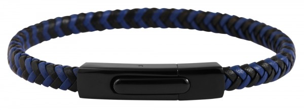 Akzent Unisex - Armband aus Echtleder mit Edelstahl Länge 21,5 cm 5040235