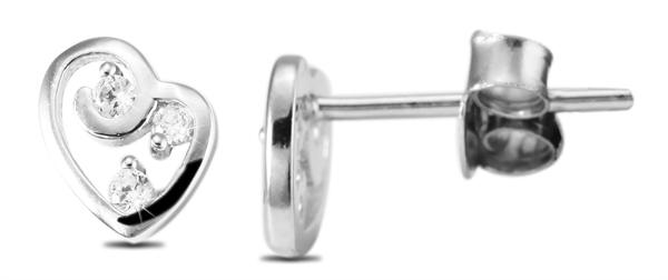 Giulia Luna Damen – Ohrstecker 925er Silber rhodiniert Ohrringe Strass GL5200038