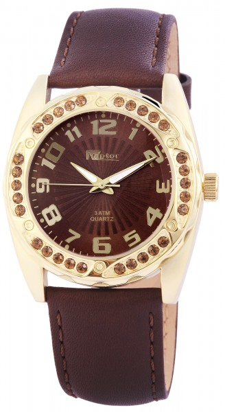 Raptor Damen-Uhr Echtleder Armband Analog Quarz RA10095