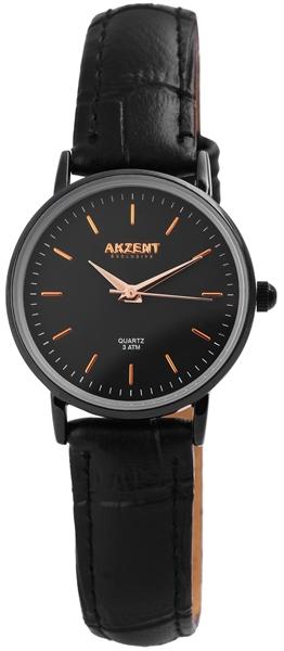 Akzent Exclusive Damen - Uhr Lederimitations Armbanduhr Analog Quarz 1900183