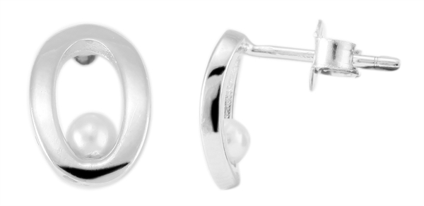 Giulia Luna Damen – Ohrringe 925er Silber rhodiniert Ohrstecker GL5200006