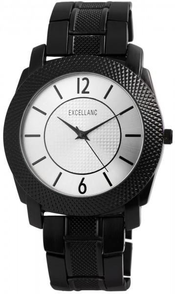 Excellanc Herren-Uhr Gliederarmband Metall Faltschließe Analog Quarz 2800035